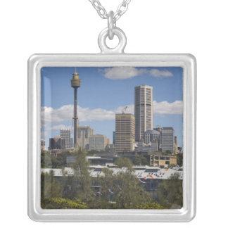 Australia, Sydney, Potts Point. Sydney skyline. Square Pendant Necklace