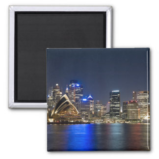Australia, Sydney. Skyline with Opera House seen 2 Inch Square Magnet