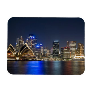 Australia, Sydney. Skyline with Opera House seen Magnet