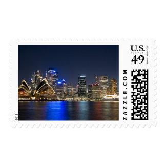 Australia, Sydney. Skyline with Opera House seen Postage Stamps