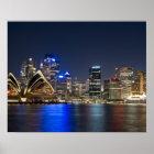 Australia, Sydney. Skyline with Opera House seen Poster