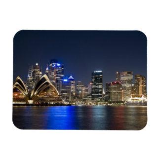 Australia, Sydney. Skyline with Opera House seen Rectangular Photo Magnet