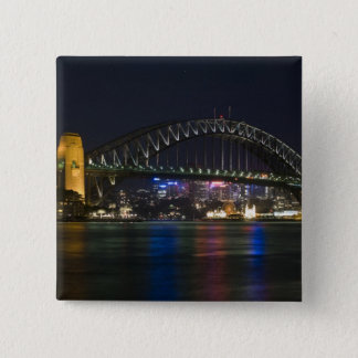Australia, Sydney. Sydney harbor at night. Pinback Button