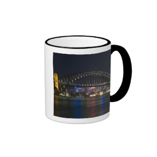 Australia, Sydney. Sydney harbor at night. Ringer Mug