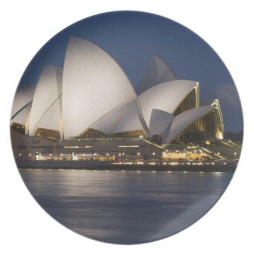 Australia, Sydney. Teatro de la ópera en la noche  Plato De Comida