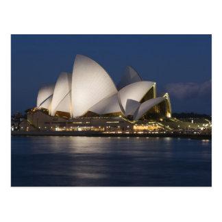 Australia, Sydney. Teatro de la ópera en la noche  Tarjetas Postales