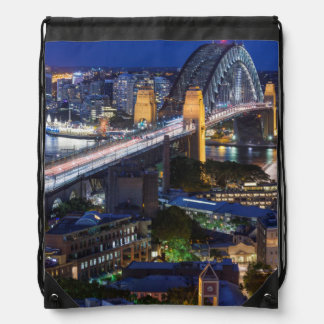 Australia, Sydney, The Rocks area, Sydney Harbor Drawstring Backpack
