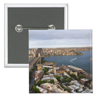 Australia, Sydney, view over The Rocks & Sydney Pinback Button