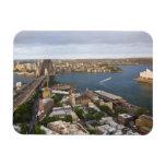 Australia, Sydney, view over The Rocks & Sydney Rectangular Photo Magnet