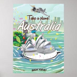 Australia Sydney vintage travel poster