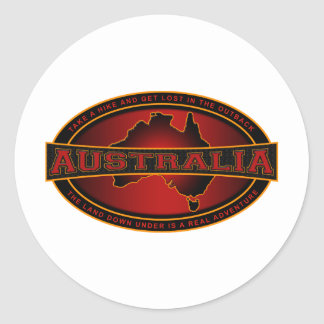 Australia - Take A Hike & Get Lost In The Outback Classic Round Sticker