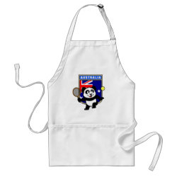 Apron with Australian Tennis Panda design