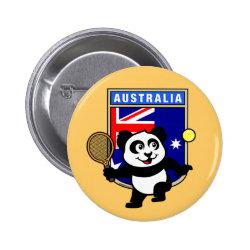 Round Button with Australian Tennis Panda design