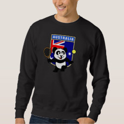 Australian Tennis Panda Men's Basic Sweatshirt