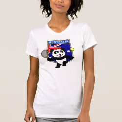 Women's American Apparel Fine Jersey Short Sleeve T-Shirt with Australian Tennis Panda design