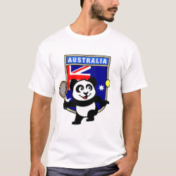 Australian Tennis Panda Men's Basic T-Shirt