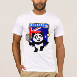 Australian Tennis Panda Men's Basic American Apparel T-Shirt