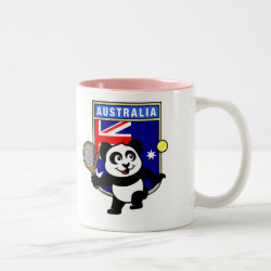 Two-Tone Mug with Australian Tennis Panda design