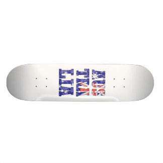 AusTraLia Text Flag Custom Skateboard