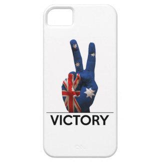 Australia text victory hand v-shape peace fingers iPhone SE/5/5s case