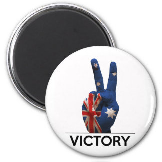 Australia text victory hand v-shape peace fingers fridge magnet