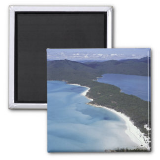 Australia, The Whitsundys, Queensland. Hill 2 Inch Square Magnet