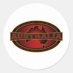 Australia - tome un alza y pierdase en el interior etiqueta redonda