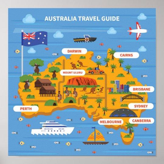 australia travel guide poster. Black Bedroom Furniture Sets. Home Design Ideas