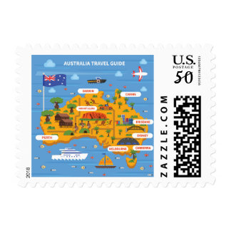 Australia Travel Guide Poster Postage
