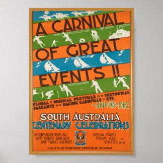 Australia travel vintage poster
