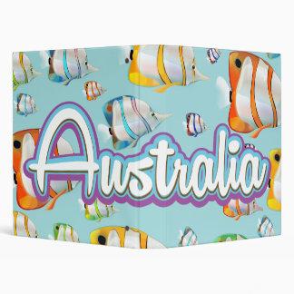 Australia Tropical fish travel poster Binder