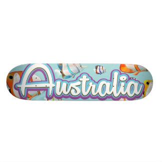 Australia Tropical fish travel poster Skateboard Deck