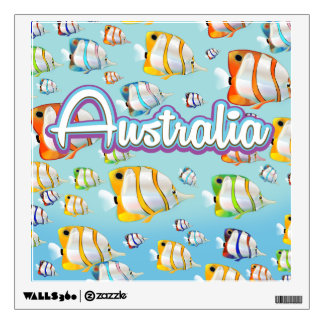 Australia Tropical fish travel poster Wall Decal