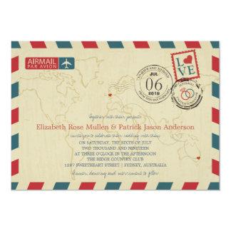Australia / UK Antique Airmail | Wedding Card