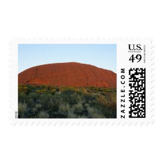 Australia Uluru Ayers Rock sandstone massif Stamps