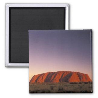 Australia, Uluru Kata Tjuta National Park, Uluru 2 2 Inch Square Magnet