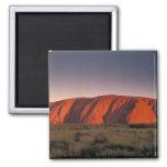 Australia, Uluru National Park. Uluru or 2 Inch Square Magnet
