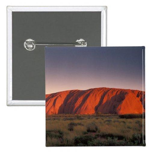 Australia, Uluru National Park. Uluru or 2 Inch Square Button