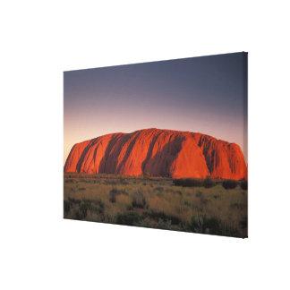 Australia, Uluru National Park. Uluru or Canvas Print