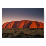 Australia, Uluru National Park. Uluru or Card