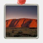 Australia, Uluru National Park. Uluru or Square Metal Christmas Ornament