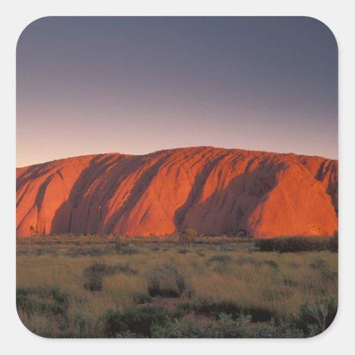Australia, Uluru National Park. Uluru or Stickers