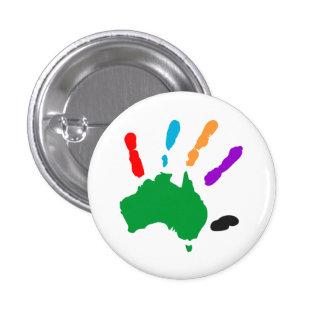 Australia unificada…. ¡guau! pin redondo de 1 pulgada