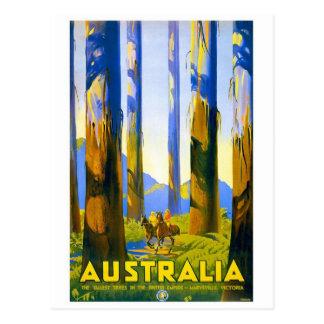 Australia - viaje del vintage postal