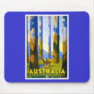 Australia - viaje del vintage tapetes de ratón