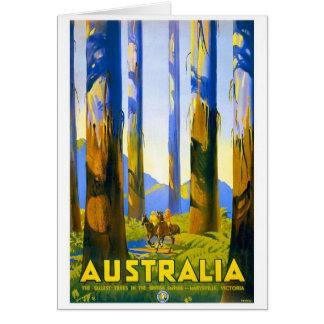 Australia - viaje del vintage tarjeta de felicitación