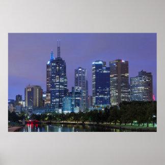 Australia, Victoria, Melbourne, horizonte adelante Póster