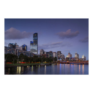 Australia, Victoria, Melbourne, horizonte con 2 Póster