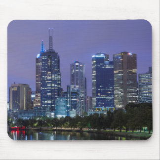 Australia, Victoria, Melbourne, skyline along Mouse Pad