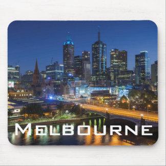 Australia, Victoria, Melbourne, skyline with Mouse Pad